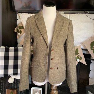 H&M brown tweed blazer